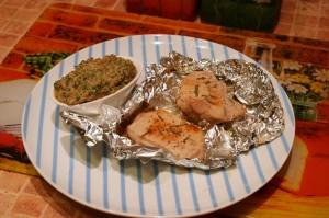 Свинина запеченная в фольге с сливочным соусом