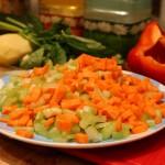 Первая чашка с овощами